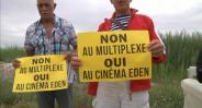 Des opposants au multiplexe