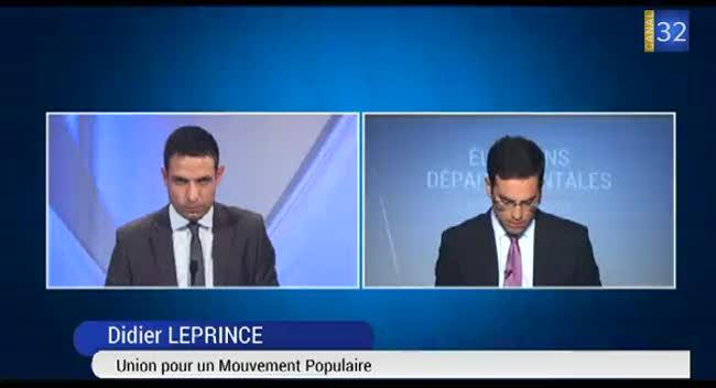 Canal 32 - Départementales : réaction de Didier Leprince