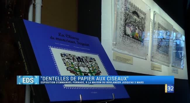 Canal 32 - Idée sortie : Emmanuel Fornage expose ses dentelles de papier aux ciseaux