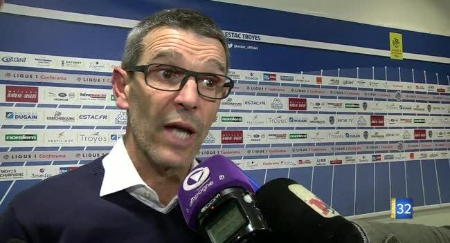 Canal 32 - Football L1, la réaction de Jean-Louis Garcia après Estac - Guingamp