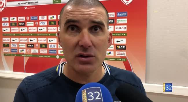 Canal 32 - Football L2, Nancy - Estac (0-0) : la réaction de Laurent Batlles