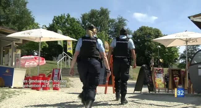 Canal 32 - Les gendarmes en mission prévention au lac d'Orient