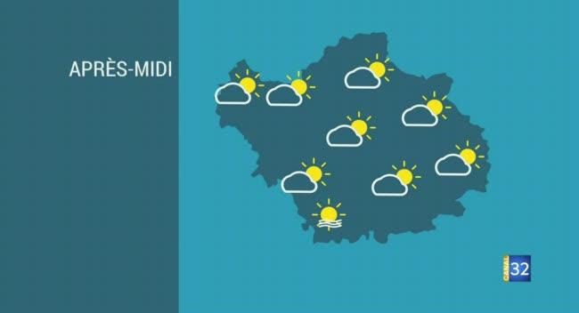 Canal 32 - Les prévisions météo pour cet après-midi