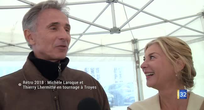 Canal 32 - Rétro 2018 : MICHÈLE LAROQUE ET THIERRY LHERMITTE EN TOURNAGE À TROYES