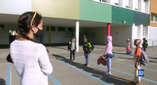 Canal 32 - Romilly-sur-Seine : 440 élèves de primaire ont repris le chemin de l'école