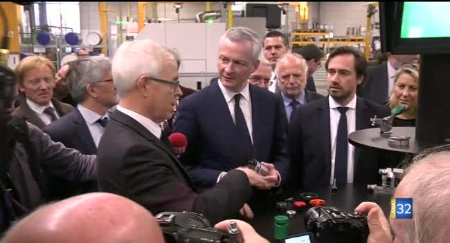 Canal 32 - Bruno Le Maire, le ministre de l'économie, dans l'Aube ce jeudi