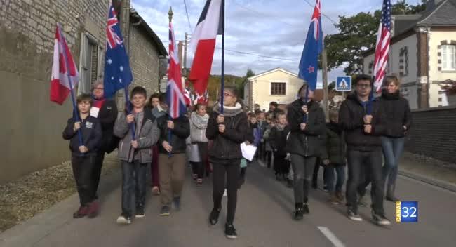 Canal 32 - Vosnon : 165 écoliers impliqués dans les commémorations de 14-18.