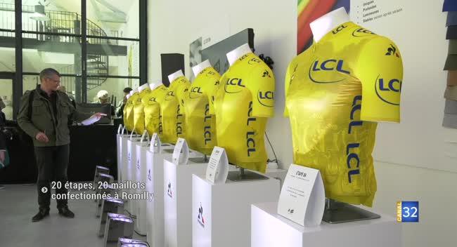 Canal 32 - Tour de France : 20 maillots jaunes confectionnés à Romilly-sur-Seine