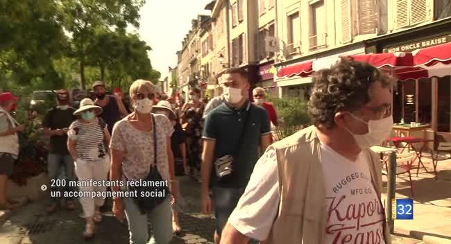 Canal 32 - Troyes : 200 manifestants pour réclamer des mesures de soutien