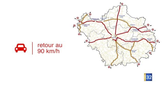 Canal 32 - 225km de routes relevées à 90 km/h dans l'Aube