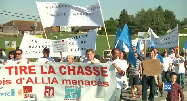 Canal 32 - 400 personnes dans la rue pour soutenir les salariés d'Allia