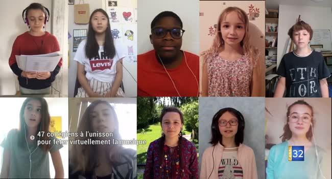 Canal 32 - 47 collégiens aubois fêtent la musique en vidéo