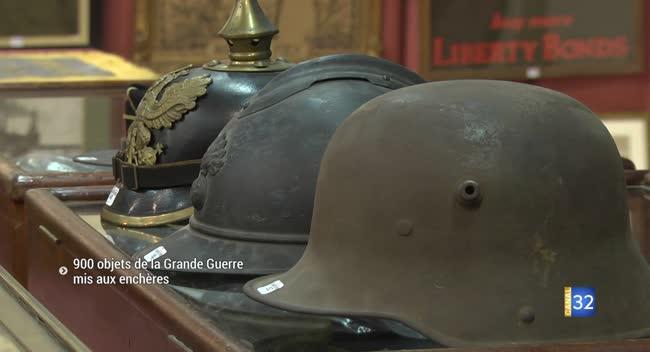 Canal 32 - Troyes : 900 objets de la Grande Guerre mis aux enchères