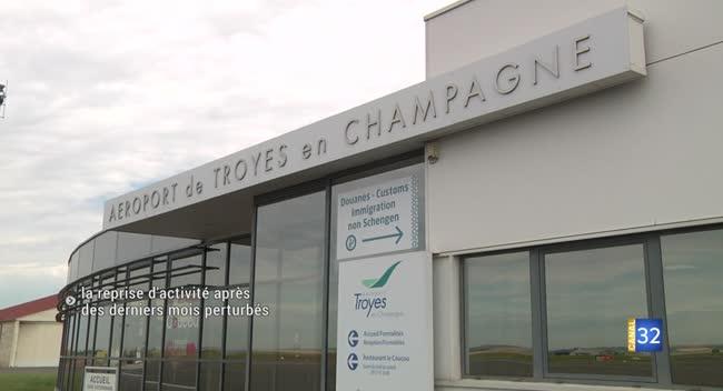 Canal 32 - Barberey-Saint-Sulpice : l'aéroport de Troyes en Champagne reprend son envol
