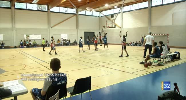 Canal 32 - Agglomération troyenne : 400 collégiens réunis pour un tournoi de basket