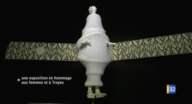 Canal 32 - Une exposition en hommage aux femmes et à Troyes par Agnès Rossi