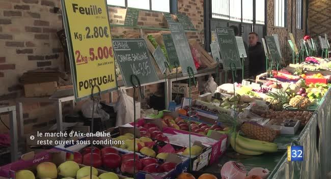 Canal 32 - Aix-en-Othe : le marché reste ouvert, des mesures sanitaires strictes mises en place
