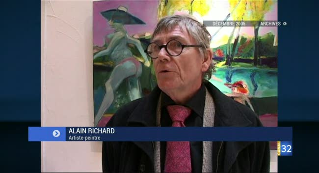 Canal 32 - Alain Richard : un artiste-peintre humble et amusant est parti (Archives)