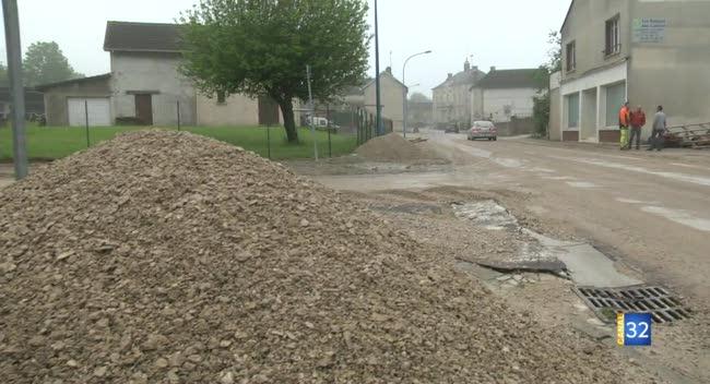 Canal 32 - Amance : des coulées de boues traversent le village suite aux averses orageuses mardi soir