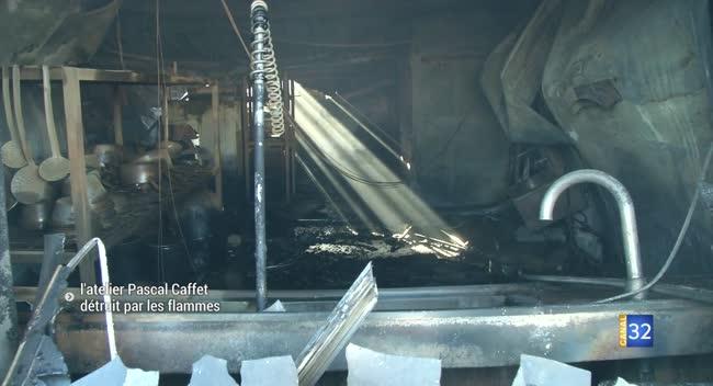 Canal 32 - Après le grave incendie de l'atelier, Pascal Caffet reste optimiste
