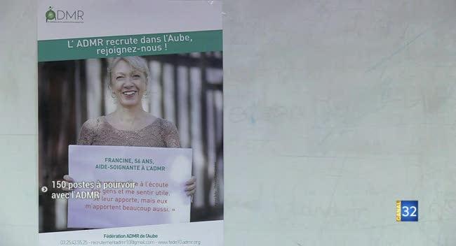 Canal 32 - Aube : l'ADMR veut recruter 150 personnes sur deux ans
