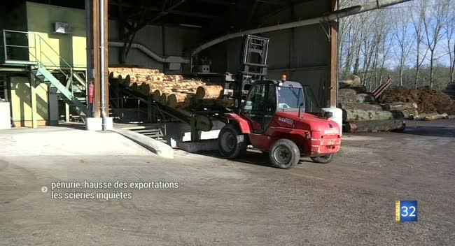 Canal 32 - Pénurie de bois et hausse des exportations : les scieurs aubois inquiets