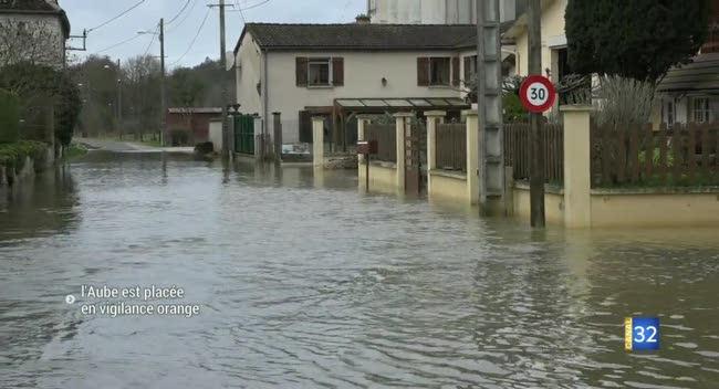 Canal 32 - Aube : plusieurs communes touchées par les inondations