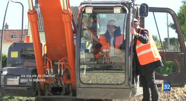 Canal 32 - Vis ma vie de chantier pour la députée de l'Aube