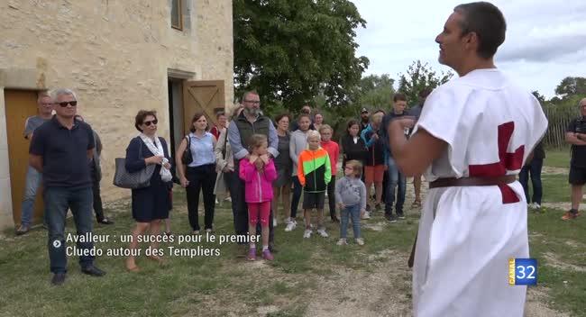 Canal 32 - Avalleur : un succès pour le premier Cluedo autour des Templiers
