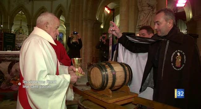 Canal 32 - Bar-sur-Aube : les vignerons célèbrent la Saint-Vincent