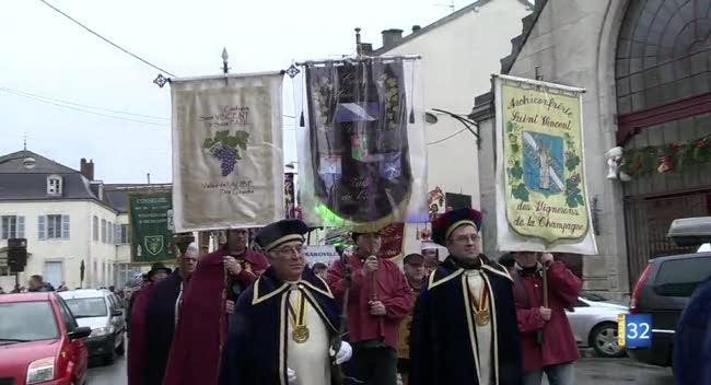 Canal 32 - Bar-sur-Aube : les vignerons fêtent Saint-Vincent
