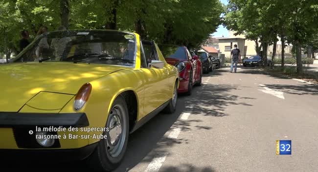 Canal 32 - Bar-sur-Aube : une vingtaine de supercars réunies ce week-end