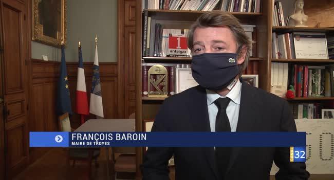 Canal 32 - Couvre-feu dans l'Aube : la réaction de François Baroin, le maire de Troyes