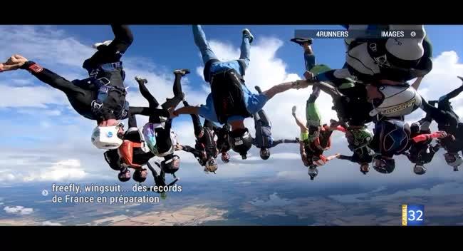 Canal 32 - Brienne-le-Château : freefly, wingsuit... des records de France en préparation