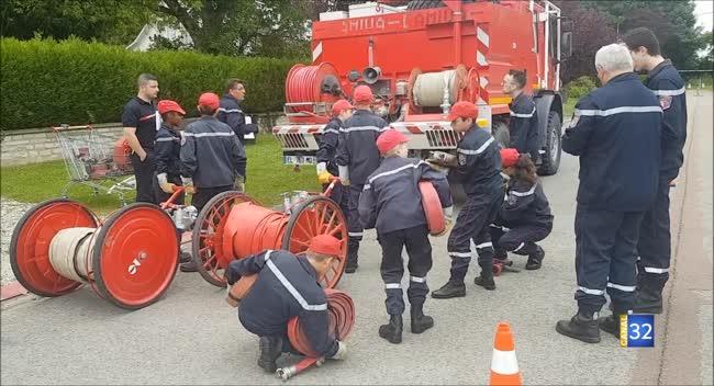 Canal 32 - Brienne-le-Château : l'heure des évaluations pour les jeunes sapeurs-pompiers