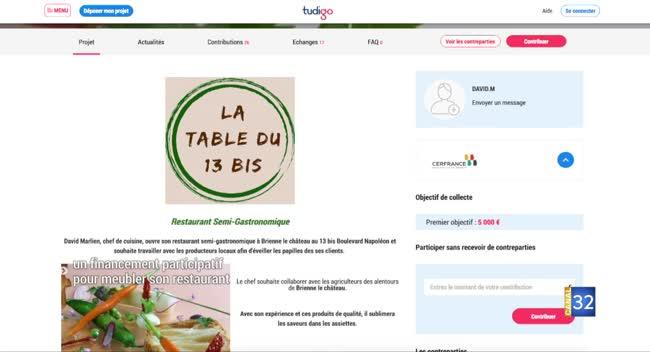 Canal 32 - Brienne-le-Château : un financement participatif pour meubler un restaurant