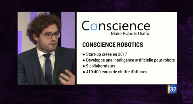 Canal 32 - Business Club de France des Entrepreneurs - Conscience Robotics