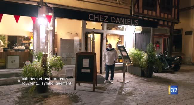 Canal 32 - Cafetiers et restaurateurs ont rouvert... symboliquement
