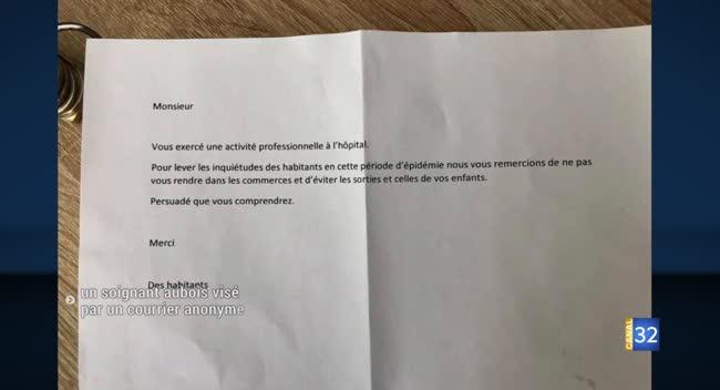 Canal 32 - Celles-sur-Ource : un soignant visé par une lettre anonyme. Il réagit.