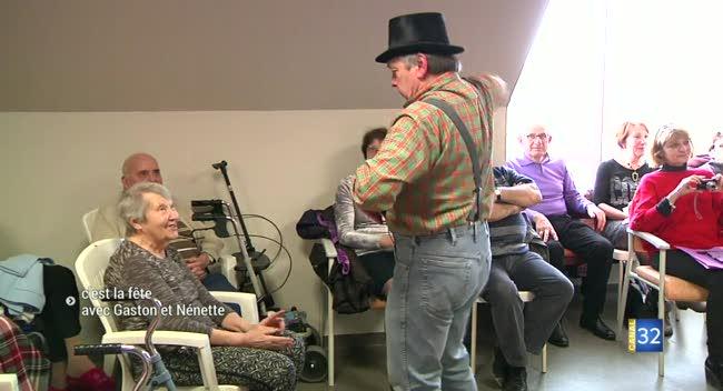 Canal 32 - Ramerupt : c'est la fête avec Gaston et Nénette, à la maison de retraite !