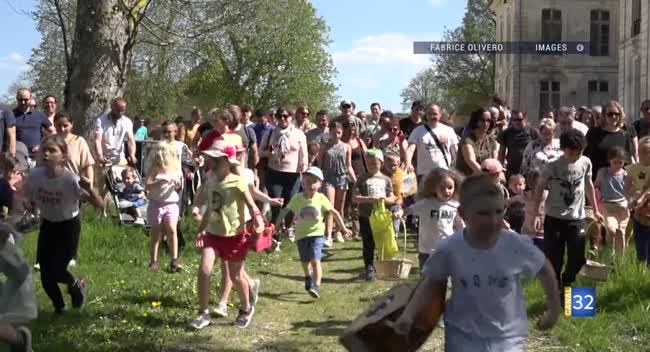 Canal 32 - Château de Vaux : des chasses aux œufs géantes pour le week-end de Pâques