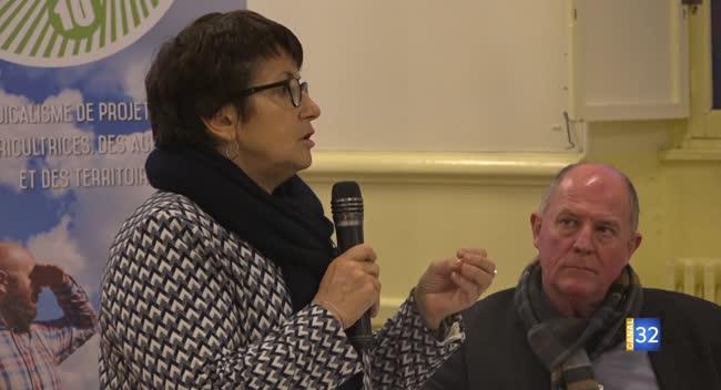 Canal 32 - La présidente de la FNSEA en soutien des agriculteurs du Barrois