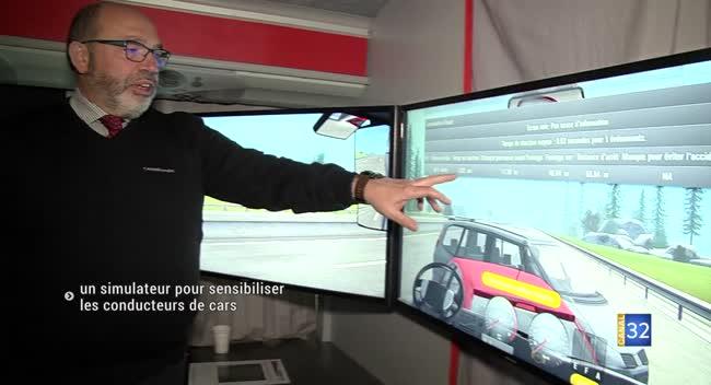 Canal 32 - Plancy-l'Abbaye : un simulateur pour former les conducteurs de cars
