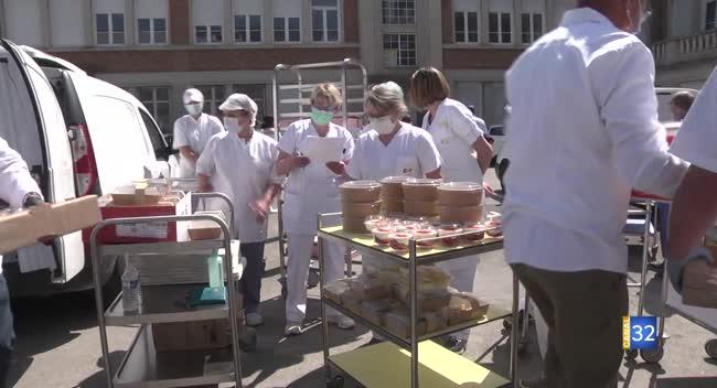 Canal 32 - Collectif Rest Ô Ensemble : 150 repas livrés au Centre hospitalier de Troyes