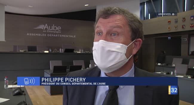 Canal 32 - Confinement partiel de l'Aube : réaction de Philippe Pichery, président du Département