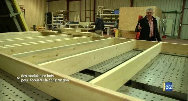 Canal 32 - Construire sa maison soi-même avec des modules en bois : Mur Au'bois s'industrialise
