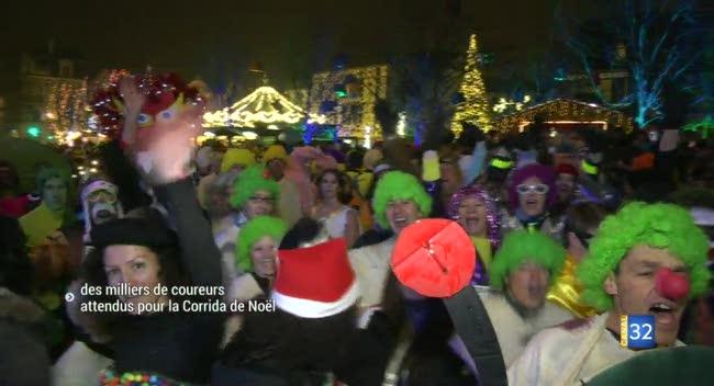 Canal 32 - Corrida de Noël à Troyes : à vos déguisements. Prêts ? Courez !