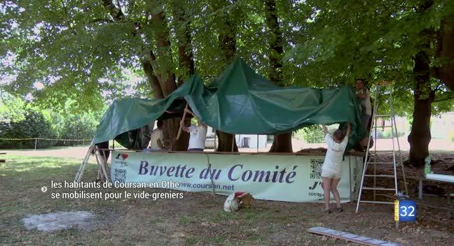 Canal 32 - Coursan-en-Othe : les habitants mobilisés pour l'organisation du vide-greniers