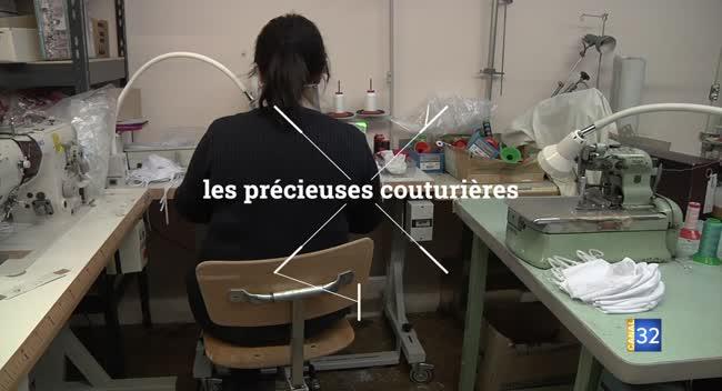 Canal 32 - Grand Format : Lafitte fabrique des masques en tissu pour les pompiers aubois