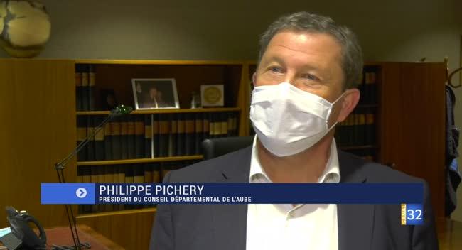 Canal 32 - Couvre-feu dans l'Aube : la réaction de Philippe Pichery, le président du Conseil Départemental